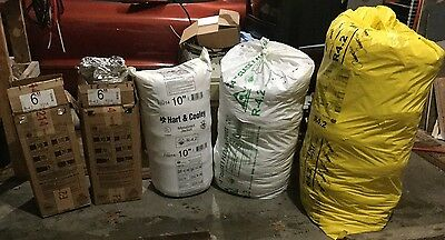 """Lot of 5 Mostly Full R4.2-16"""" Silver Flexible Duct"""