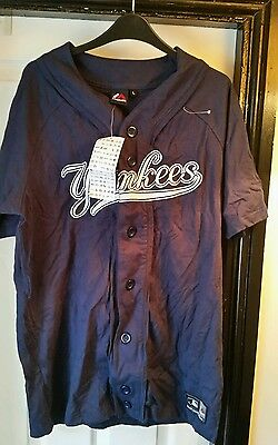 New York Yankees baseball jersey large majestic authentic