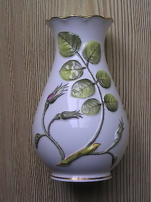 "A Royal Worcester ""blind Earl"" Raised Wild Rose Pattern Vase: 5.75"" Tall: Vgc"