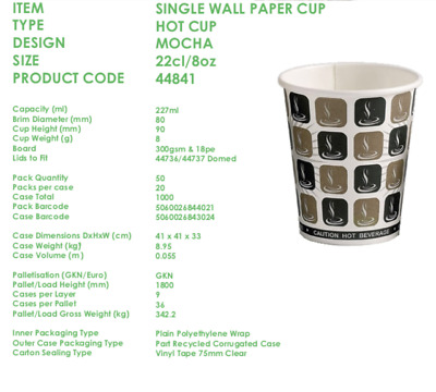 Mocha Paper Dispo Coffee/Tea Cup & Sip Lid(8oz,10oz,12oz,16oz)Catering-Takeaway