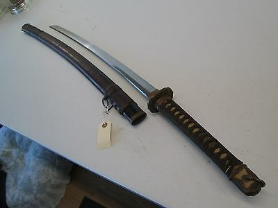 Ww2 Japanese Army Officers Sword With Scabbard Signed Kanezane With Seal #at12
