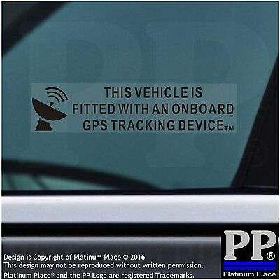 5x On Board GPS Tracking Device Fitted Stickers-Car,Van,Boat,BLACK,Security Sign