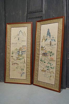 Chinese Silk Embroidery Panels. Art. Vintage. Antique. - We Can Deliver