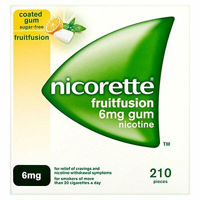 Nicorette 6mg Gum Nicotine 210 Pieces - Fruit Fusion Flavour