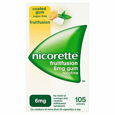 Nicorette Fruitfusion Gum 6 mg, 105 Pieces