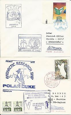 Chile - Antarctica - 2 different 1997 Chilean antarctic base covers