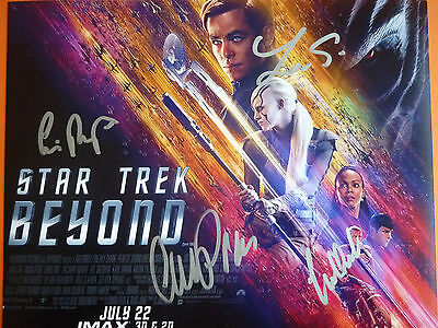Star Trek film photo hand signed by 4 10x8