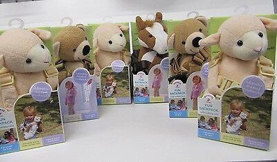 Goldbug Baby Toddler harness reins BackPack 6 assorted horse lamb teddy wholsale