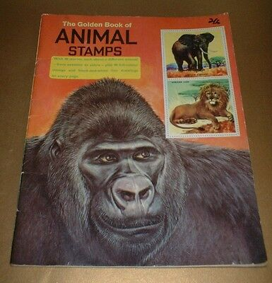 VINTAGE 1967 THE GOLDEN BOOK OF ANIMAL STAMPS - Complete album with all stamps