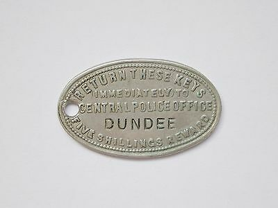 Rare Antique Scottish Dundee Police Key Fob Insurance Tag