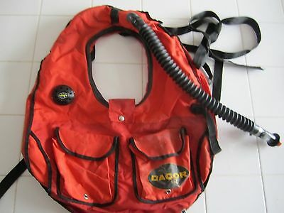 Vintage Dacor Collar style BCD with Harness Original owner has co2 plus tank fil