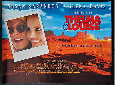 THELMA AND LOUISE (Ridley Scott 1991) Original UK Quad poster