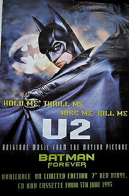 U2 Rare 'HOLD ME, THRILL ME, KISS ME, KILL ME 1995 BATMAN FOREVER Poster.
