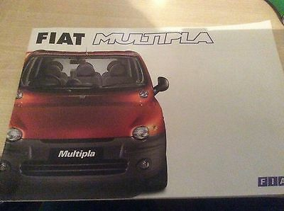 FIAT MULTIPLA  SALES BROCHURE  2000  #FiMu01