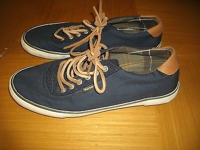 Barbour International Navy Blue Deck Shoes/Plimsoles Size 7 Great Used Condition