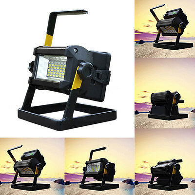 50W 36LED Portable Rechargeable Flood Light Spot Work Camping Fishing Lamp Black