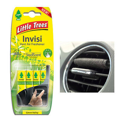 Magic Tree Little Trees Invisi Vent Clip Car Air Freshener Scent - Green Valley