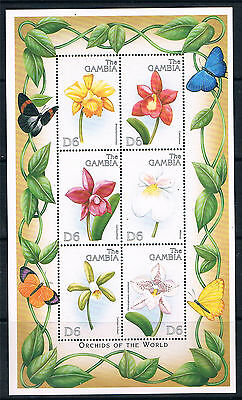 Gambia 1999 Orchids of the World shtlt SG 3179a MNH