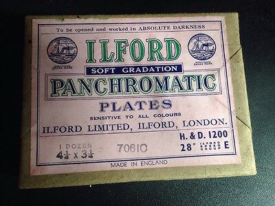 """ILFORD Soft Graduation Panchromatic Plates - 4.25"""" x 3.25"""" - Sealed Pack of 12"""