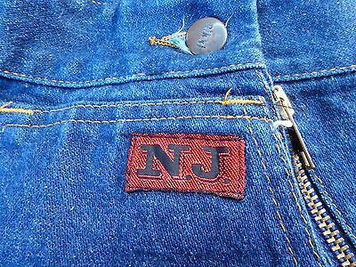 RARE INCREDIBLE Original Vintage 70's Ladies NIKKI Flared Blue jeans - Small