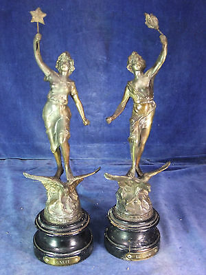 19th C Pair Of French Spelter Figures c.1890 [9982]