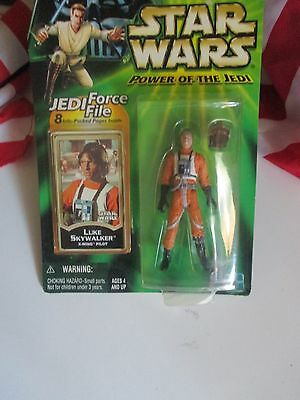 "Star Wars Power of the Jedi Luke Skywalker 4"" Action Figure Collection 1"