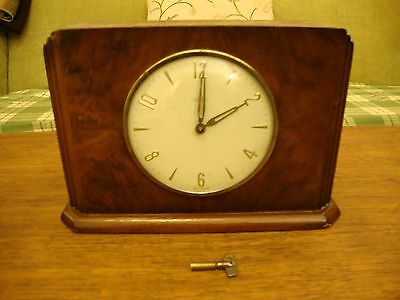 Vintage Wooden Case Mantel Savings Clock