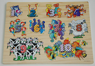 Numbers Animal Theme 3D Wooden Puzzle