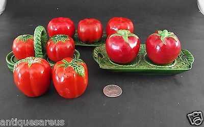 12  Lot  Old Tomato  Ware Salt And Pepper Collection