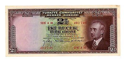 Turkey … P-140 … 2  1/2 Lirasi … L.1930(1942-47) … *VF/XF*