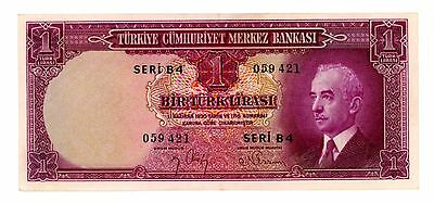 Turkey ... P-135 ... 1 Lira ... L.1930(1942-44) ... *XF*