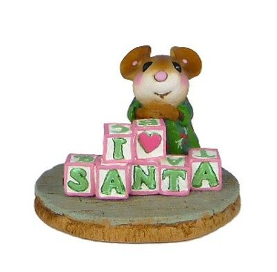 Wee Forest Folk CO-8a I love Santa - Factory Special