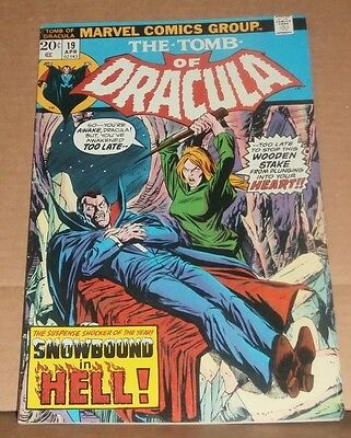Tomb Of Dracula #19, VF+, Blade appearance