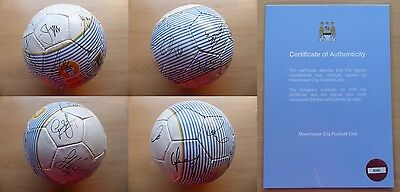 2012-13 Man City Football Signed by Squad with Official COA (9520)