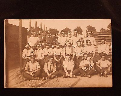 Ww1 Rppc Of Group Of British Pow's In Camp At Knittelfield, Austria. Good Cond.