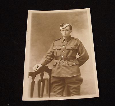 Ww1 Young Royal Flying Corp Officer Cadet ? Dated 1918. Rppc. In Good Condition.