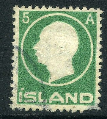 ICELAND;  1912 early Sigurdssson issue 5a. used value