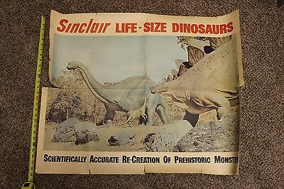 """Sinclair Oil """"Life-Size"""" Dinosaur Promotional Poster"""