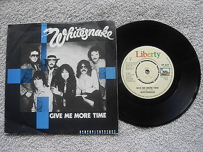 "WHITESNAKE GIVE ME MORE TIME LIBERTY RECORDS 7"" VINYL SINGLE in PICTURE SLEEVE"