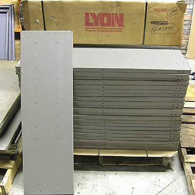"Lyon Heavy Duty 18 gauge Gray Shelving 42"" x 12"" Shelf Shelves - Very Good"