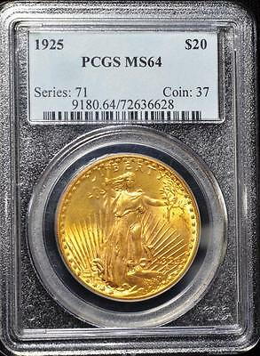 1925 $20 Saint-Gaudens Double Eagle - PCGS  MS64 Gold