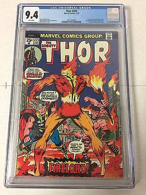 Thor 225 Cgc 9.4 White Pages 1st Firelord