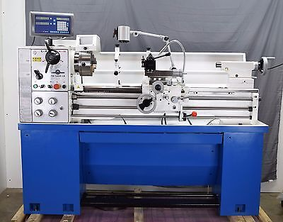 """Pm1440E-Lb Metal Working Lathe, 2"""" Spindle Bore 2-Axis Dro Installed Qctp"""