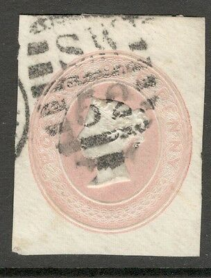 Queen Victoria - 1d Red - Embossed Postal Stationery.