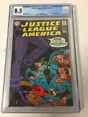 Justice League Of America 75 Cgc 8.5 Ow/w Pages