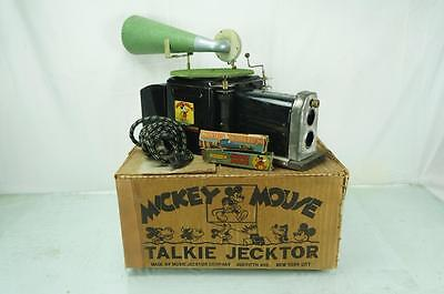 1930s MICKEY MOUSE TALKIE JECKTOR ORIGINAL BOX PHONOGRAPH PROJECTOR ANTIQUE TOY