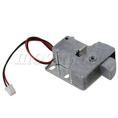 12V Cabinet Door Electric Lock Assembly Solenoid Silver