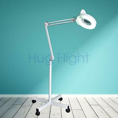 Hug Flight Magnifier Lamp Floor Standing Magnifying 5 x Magnification Salon
