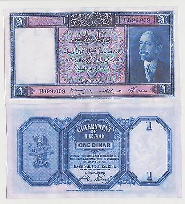 Reproduction OLD banknotes of King Fiasl 1st of Iraqi Kingdom SEE SCAN