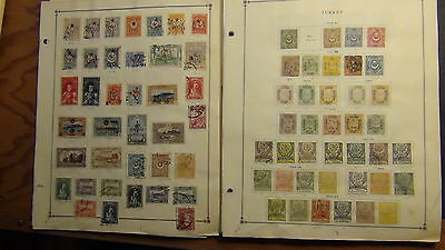 Turkey stamp collection on Scott International pages to '73